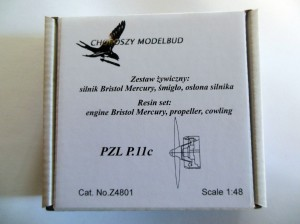 1:48 resin set  engine Bristol Mercury, propeller, cowling for PZL P.11c