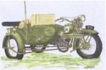 [V02] HEAVY MOTORCYCLE M111 SOKÓŁ(FALCON) with SIDE CAR and Radio-Station