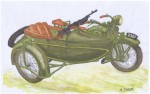[V04] HEAVY MOTORCYCLE M111 SOKÓŁ(FALCON)1000 with SIDE CAR and Browning wz. 28