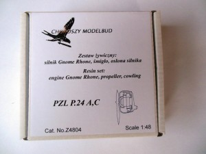1:48 resin set  engine Gnome Rhone, propeller, cowling for PZL P.24A,C