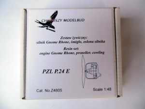 1:48 resin set  engine Gnome Rhone, propeller, cowling for PZL P.24E