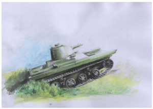 [V12] PZInz-130 with Browning 30 Polish amphibious tank