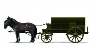 [V7203] Horses-Drawn Ammunition Supply Wagon ( German Type)