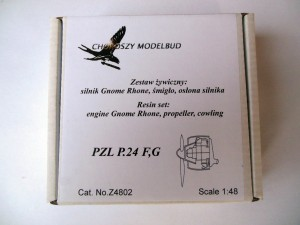 1:48 resin set  engine Gnome Rhone, propeller, cowling for PZL P.24F,G
