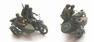 [V14] POLISH COMBAT CREW OF 3 (1939) FOR MOTORCYCLE M111 SOKÓŁ (FALCON) 1000 with SIDE CAR