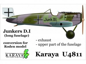 Junkers D.I late correction set – long fuselage (resin)